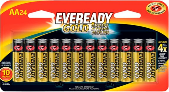 Piles alcalines AA Eveready Gold, paq. 24 Image de l'article