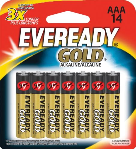 Eveready Gold Alkaline AAA Batteries,14-pk Product image