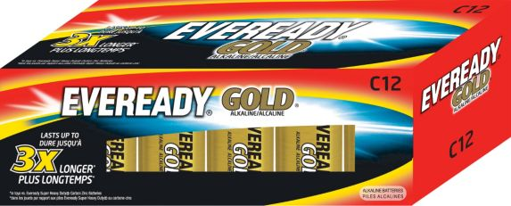 Eveready Gold Alkaline C Batteries, 12-pk Product image