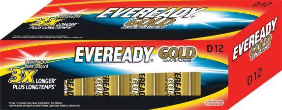 Piles D alcalines Eveready Gold, paq. 12 Image de l'article