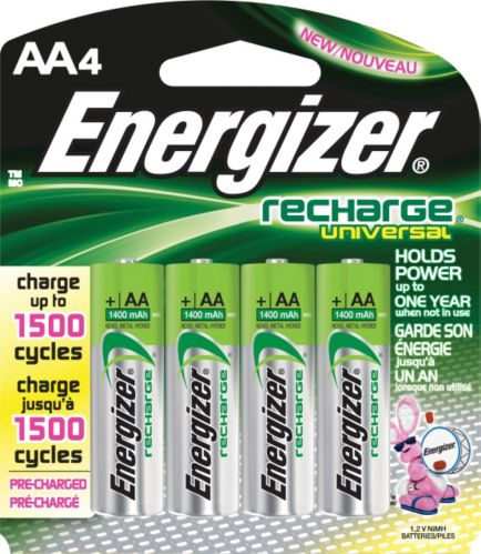 Energizer Universal Rechargeable AA Batteries, 4-pk Product image