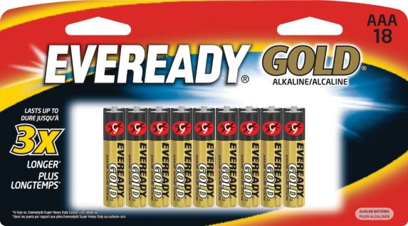 Eveready Gold Alkaline AAA Batteries, 18-pk Product image