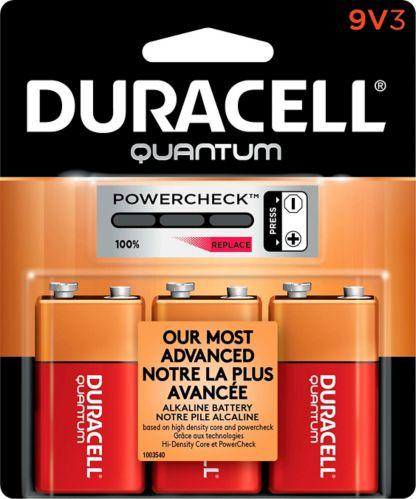 Duracell Quantum Alkaline 9V Batteries, 3-pk Product image