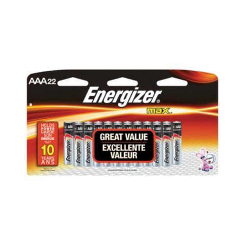 Energizer Max AAA Batteries, 22-pk
