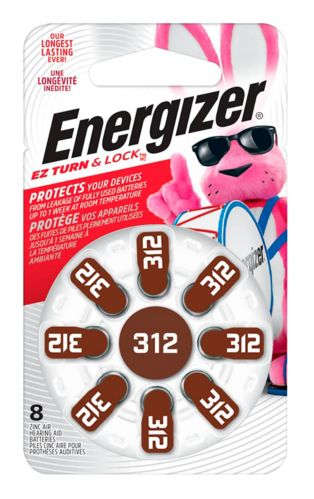 Energizer 312 Hearing Aid Battery, 8-pk Product image
