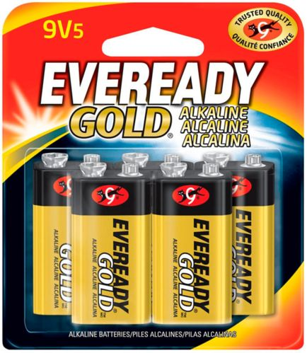 Eveready Gold 9V Alkaline Batteries, 5-pk