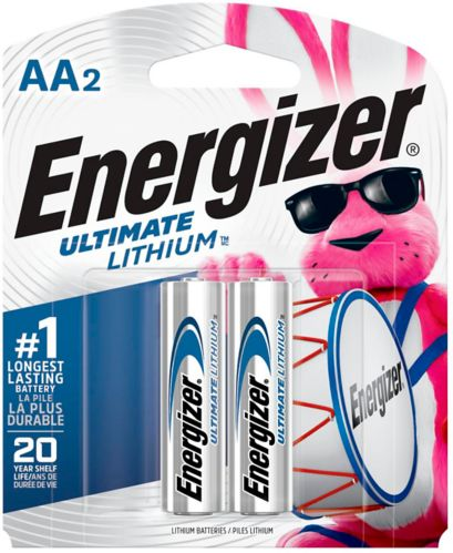 Energizer Ultimate Lithium AA2 Battery, 2-pk Product image