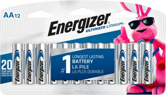 Energizer Ultimate Lithium AA12 Battery, 12-pk Product image