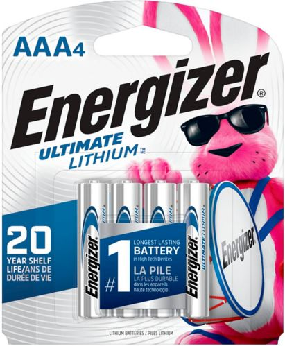 Energizer Ultimate Lithium AAA4 Battery, 4-pk Product image