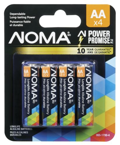 NOMA AA Alkaline Battery, 4-pk Product image