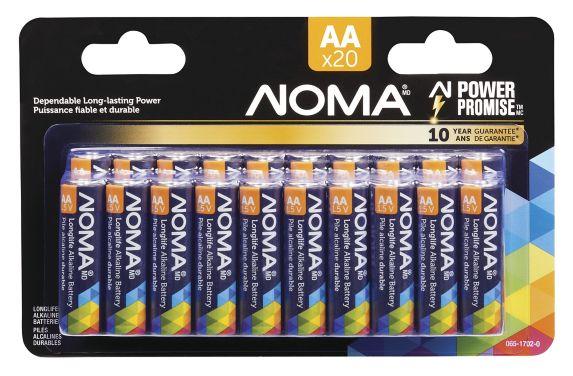 NOMA AA Alkaline Battery, 20-pk