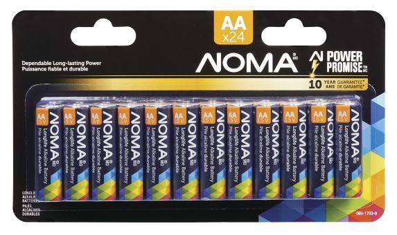 NOMA AA Alkaline Battery, 24-pk Product image