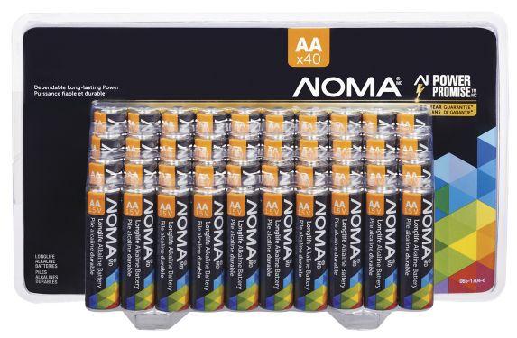 NOMA AA Alkaline Battery, 40-pk