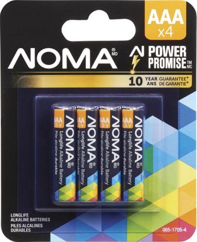 NOMA AAA Alkaline Battery, 4-pk Product image
