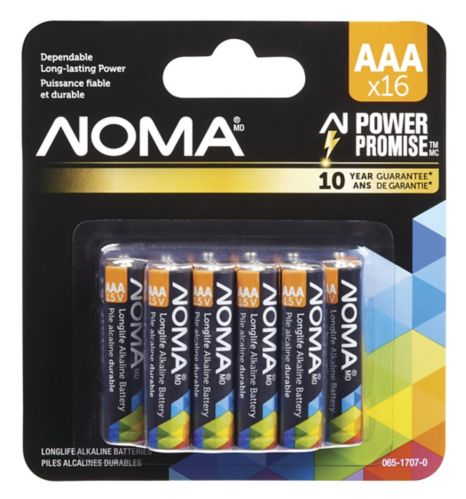 NOMA AAA Alkaline Battery, 16-pk Product image