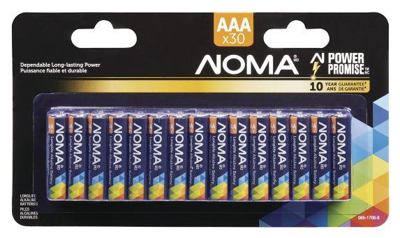 NOMA AAA Alkaline Battery, 30-pk