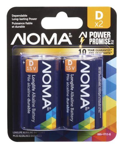 NOMA D Alkaline Battery, 2-pk Product image
