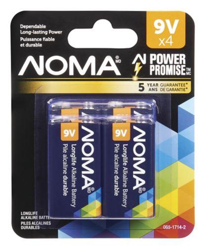 Pile alcaline 9V NOMA, paq. 4 Image de l'article