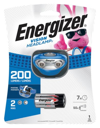 Lampe frontale Energizer Vision, 200 lumens