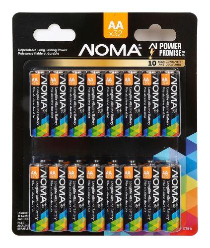 Pile alcaline NOMA, AA, paq. 32 Image de l'article