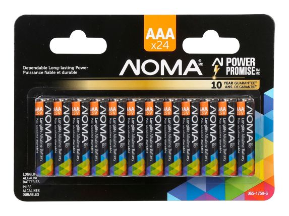 Pile alcaline NOMA, AAA, paq.24 Image de l'article