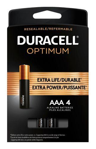 Duracell Optimum AAA Batteries, 4-pk Product image