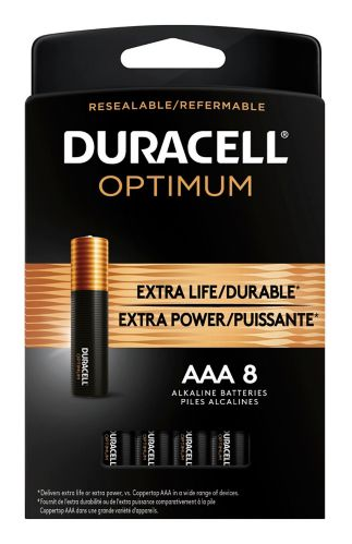 Duracell Optimum AAA Batteries, 8-pk Product image