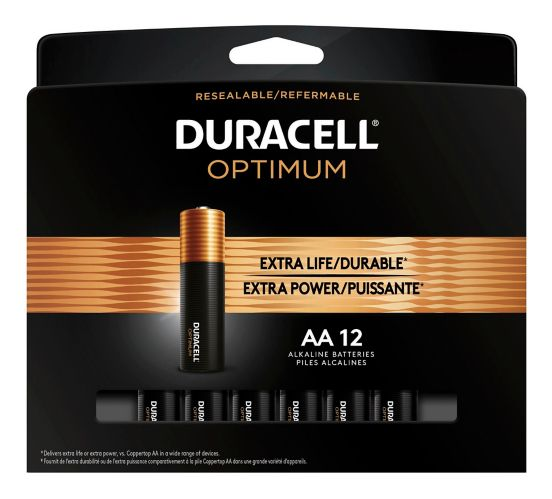 Duracell Optimum AA Batteries, 12-pk