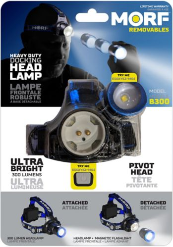 Police Security MORF Removables 3-in-1 Headlamp