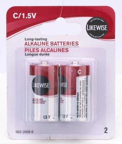 Likewise C Batteries, 2-pk