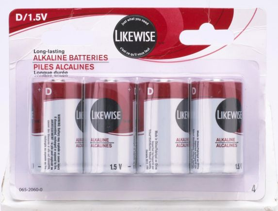 Likewise D Batteries, 4-pk Product image