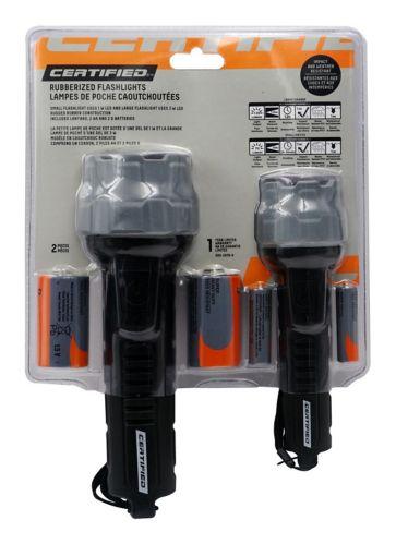 Lampes de poche caoutchoutées Certified, paq. 2