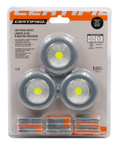 Certfied LED Push Lights, 3-pk Product image