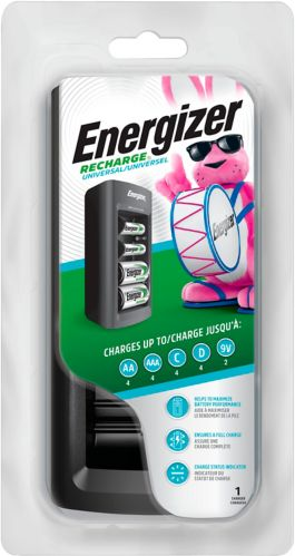 Energizer Universal Battery Charger for C, D, 9V, AA & AAA Batteries Product image