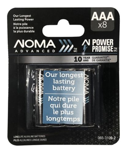 NOMA Advanced AAA Batteries, 8-pk