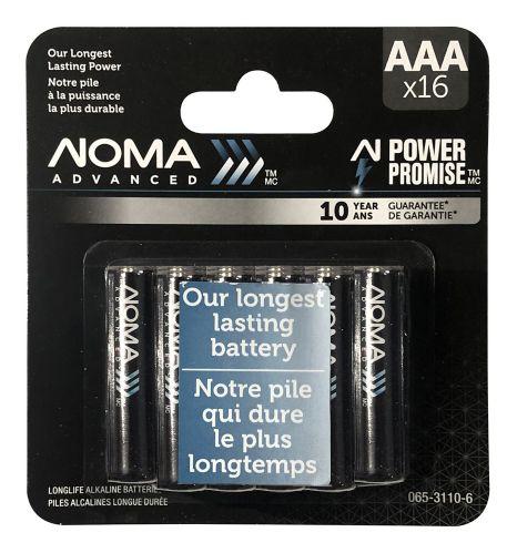 NOMA Advanced AAA Batteries,16-pk