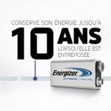 Piles au lithium Energizer, 9 V, paq. 2 | Energizernull