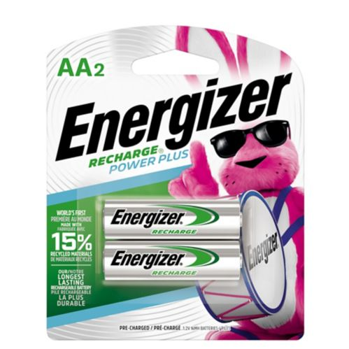 Energizer NiMH Rechargeable AA Batteries, 2-pk Product image