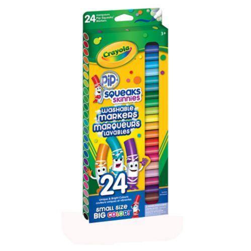 Crayola Thin Tip Washable Pip Squeak Marker, 24-pc