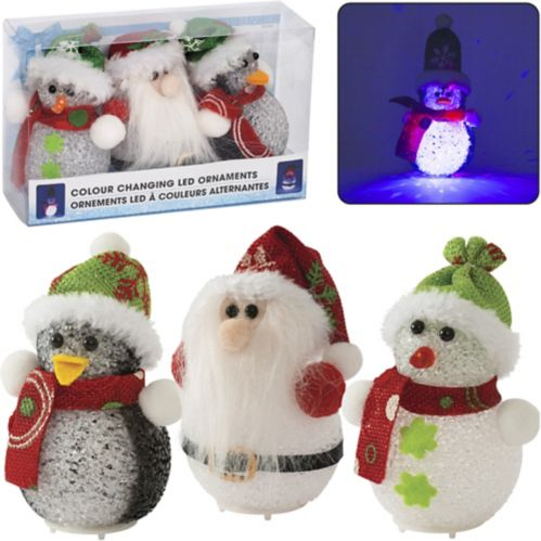 Ornament and Standing Lights, 3-pk