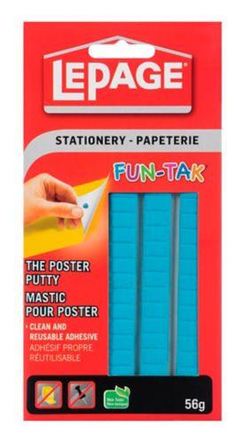 Mastic adhésif pour affiche LePage Fun-Tak, 57 g