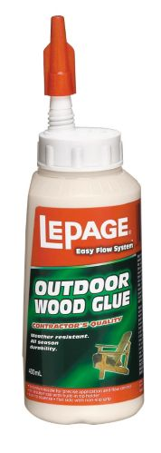 LePage Easy Flow Outdoor Wood Carpenter's Glue, 400-mL