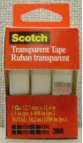 Scotch Transparent Tape, 3-pk Product image