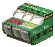 Scotch Magic Tape, 3-pk