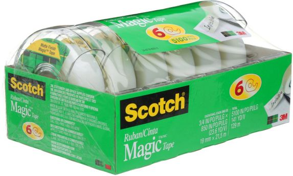 Ruban adhésif Scotch Magic, paq. 6