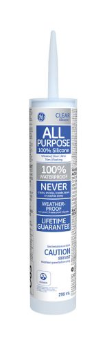 GE Silicone I All-Purpose Window & Door Caulk, Clear, 299-mL Product image