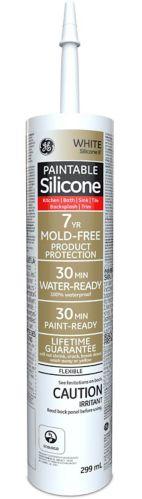 Scellant à peindre GE silicone II pour cuisine et salle de bain, 299 mL Image de l'article