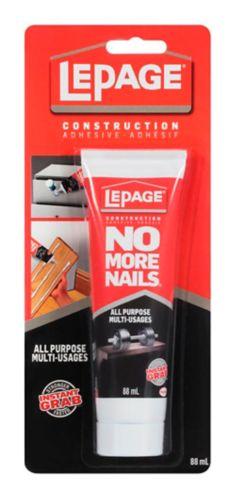LePage No More Nails All-Purpose Construction Adhesive, 88-mL