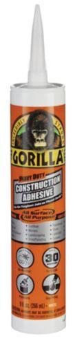 Adhésif de construction Gorilla, robuste, blanc, 266 ml Image de l'article