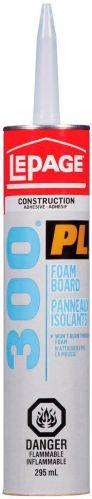 LePage PL300 Foamboard Adhesive, 295-ml